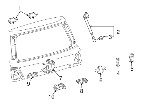 BODY/LOCK & HARDWARE for 2008 Toyota Land Cruiser #2