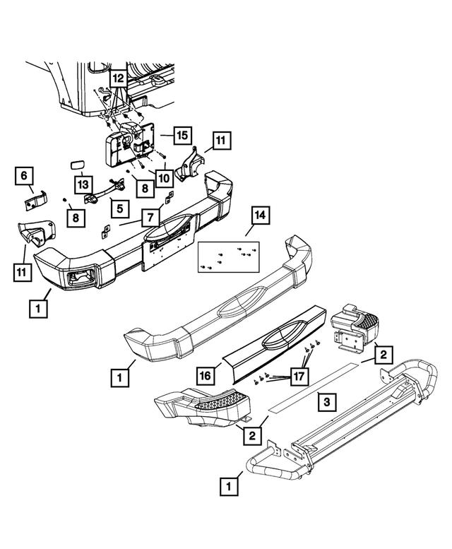 2 x Mopar Rear Backing Plate Assembly for Jeep Wrangler JK 2007-2017 BRK//JK//020A