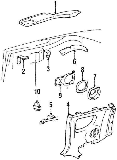 Genuine Oem Quarter Window Parts For 1999 Toyota Celica Gt