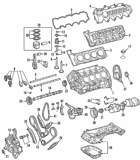 engine for 2004 mercedes