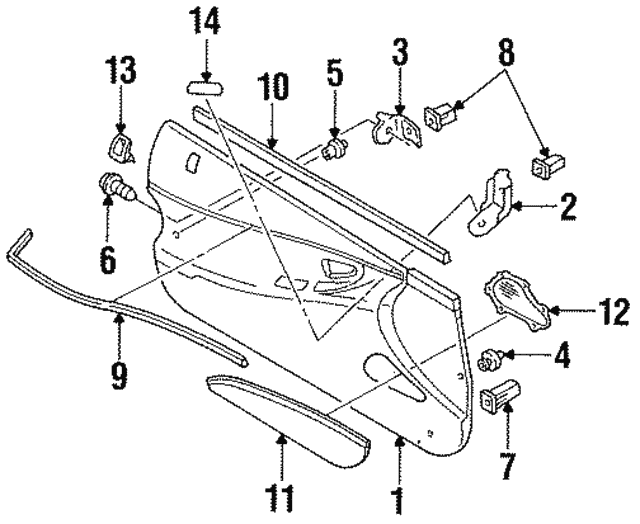 Door Trim Panel - Ford (F32Z6123943E)