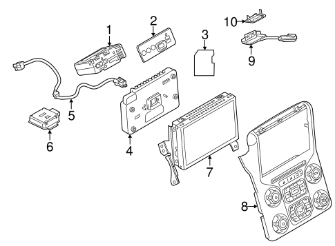Navigation System Components For 2015 Ford F 250 Super