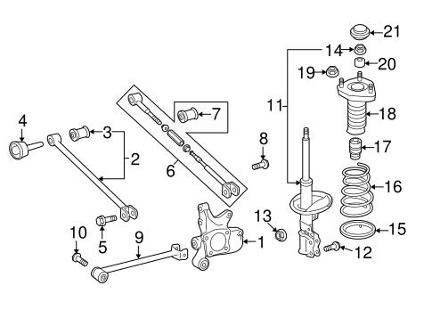 Genuine Oem Rear Suspension Parts For 2012 Toyota Highlander Limited