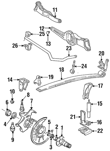 suspension components for 1992 ford f