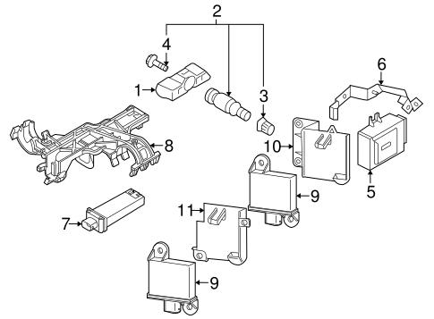 Tire Pressure Monitor Components For 2011 Porsche 911