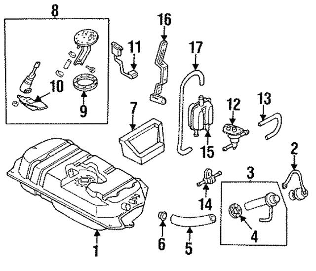 1994 1997 Ford Aspire Fuel Pump Assembly F4bz9a407b