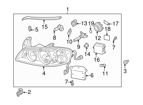 Headlamp Components for 2003 Nissan Maxima #0