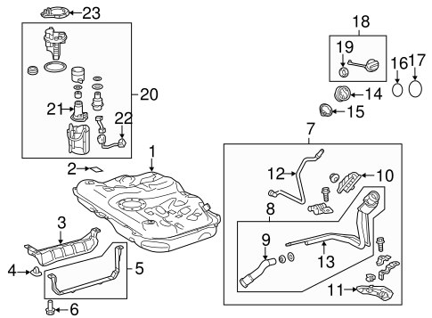 FUEL SYSTEM/FUEL SYSTEM COMPONENTS for 2015 Toyota Avalon #1