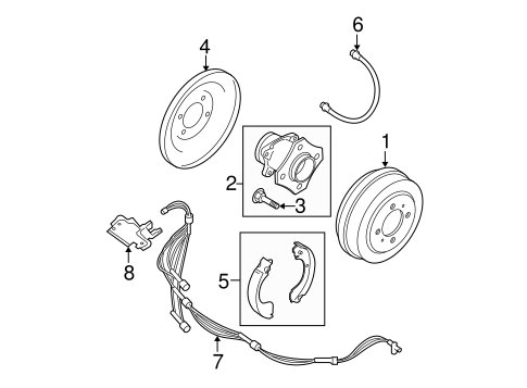 Brake Components for 2010 Nissan Sentra #1