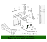 Stabilizer Bar Bracket - Mercedes-Benz (2023230240)