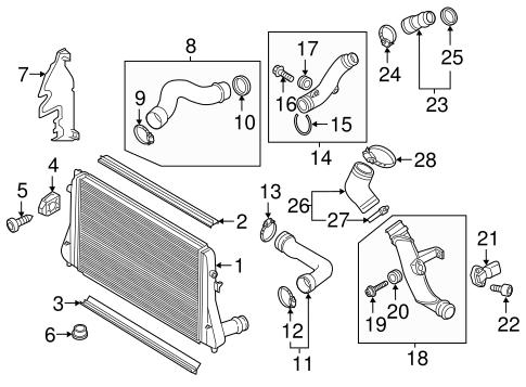 Intercooler For 2017 Volkswagen Jetta