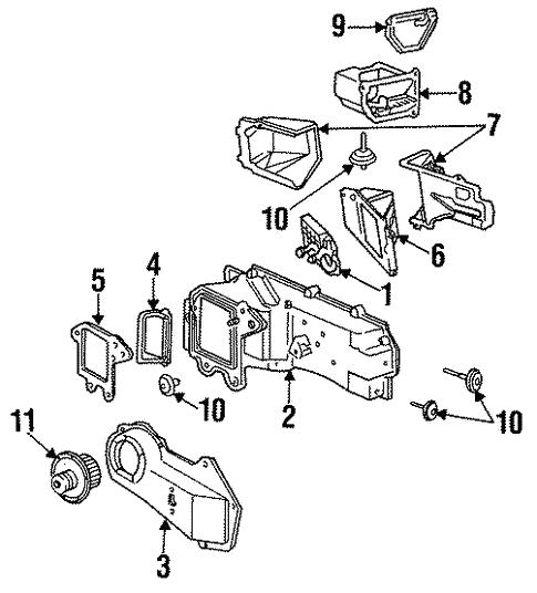 hvac/blower motor & fan for 1992 chevrolet camaro #1