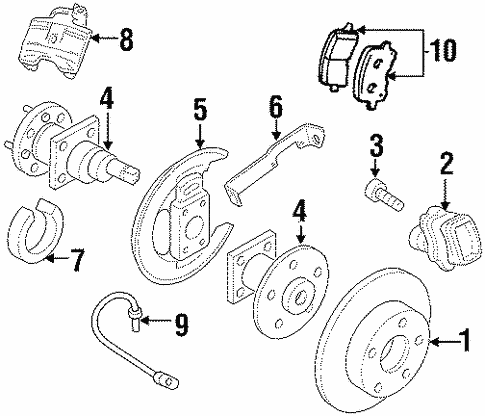 Rear Brakes for 1998 Oldsmobile Intrigue #0