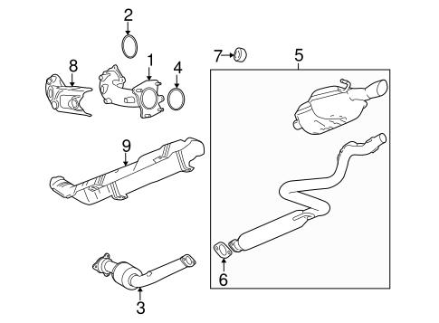 oem 2010 chevrolet cobalt exhaust components parts