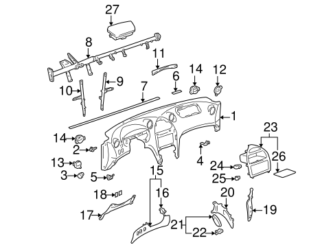 BODY/INSTRUMENT PANEL COMPONENTS for 2000 Toyota Celica #1