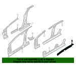 Roof Side Rail Reinforcement - Jaguar (C2S19623)