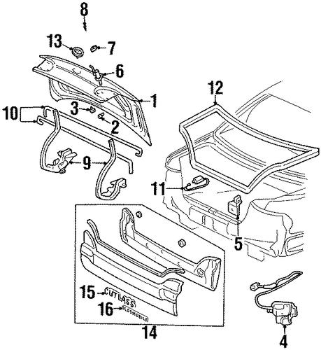 1993 Oldsmobile Cutlass Cruiser Camshaft: OEM 1999 Oldsmobile Cutlass Trunk Parts