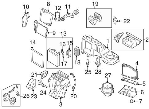 Evaporator Heater Components For 2006 Volkswagen Jetta