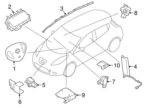 Air Bag Components For 2012 Nissan Leaf