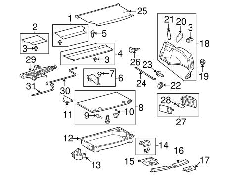 Interior Trim Rear Body For 2010 Toyota Prius Toyota Parts Center