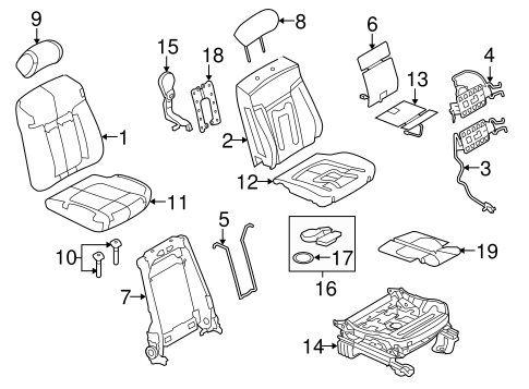 Front Seat Components For 2011 Ford F 150
