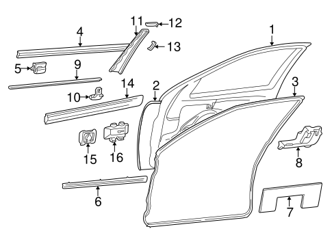 Exterior Trim - Front Door for 1996 Mercedes-Benz E 320 #0