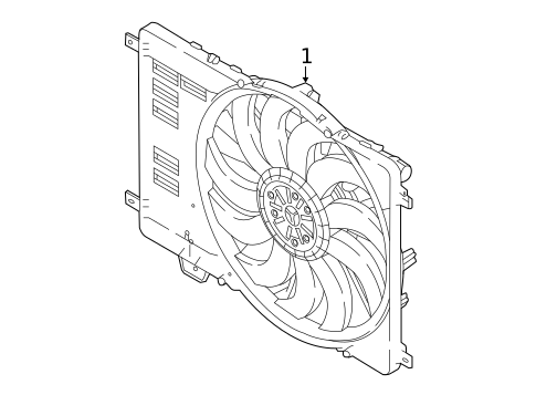 Cooling Fan For 2019 Jaguar E Pace