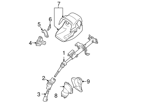 STEERING/STEERING COLUMN ASSEMBLY for 2007 Toyota Matrix #1