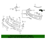Face Bar Support - Mercedes-Benz (2028850212)