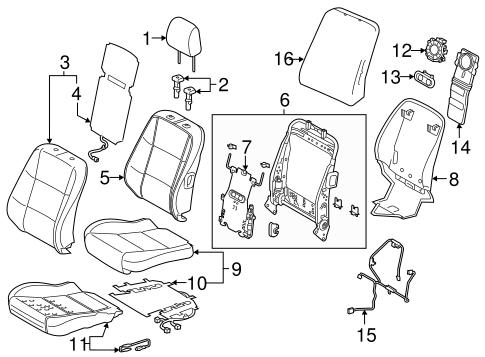 Driver Seat Components For 2018 Lexus Es350