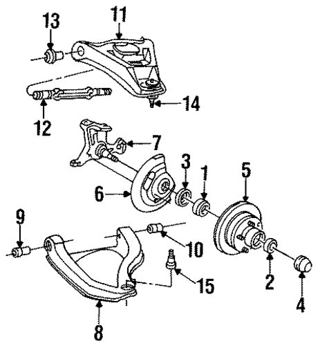front brakes parts for 1994 cadillac fleetwood