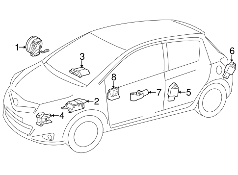 Air Bag Components For 2013 Toyota Yaris