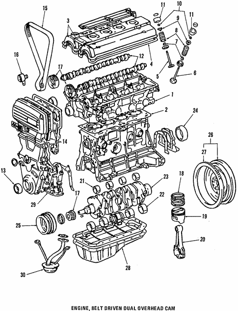 genuine oem engine parts parts for 1987 toyota corolla sport sr5 1994 Toyota Corolla Engine Diagram