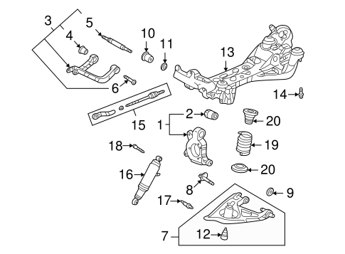 diagram for 2006 chevy uplander engine rear suspension for 2006 chevrolet uplander gm parts club  rear suspension for 2006 chevrolet