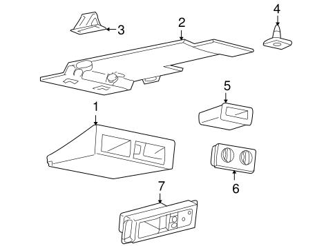 Oem 2000 Chevrolet Venture Overhead Console Parts