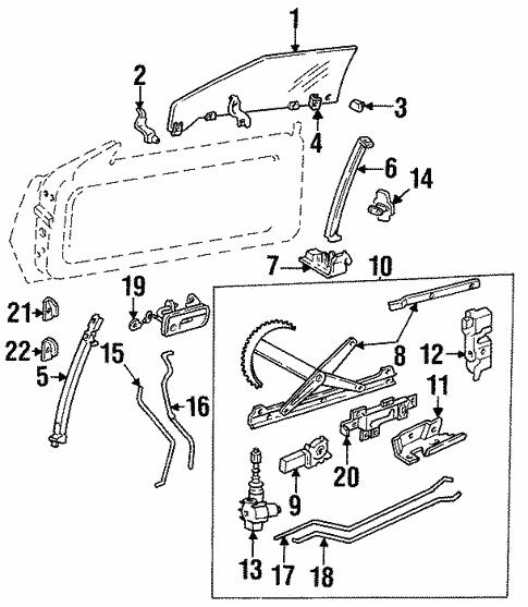 Glass Door For 2000 Cadillac Eldorado Symes Gm Parts