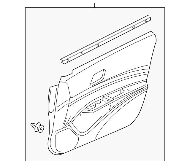 2019-2020 Acura ILX SEDAN Lining, L Front Door (Lower