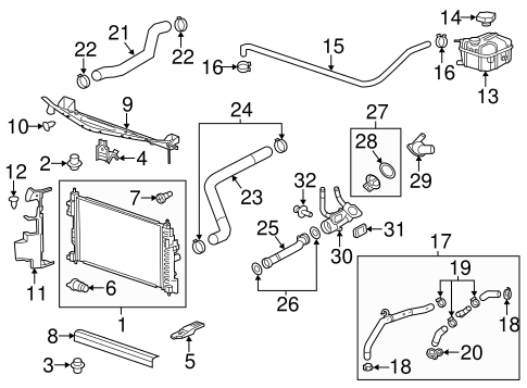 Radiator Components For 2014 Chevrolet Impala