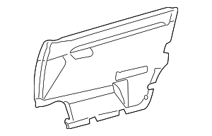 Door Trim Panel - Mercedes-Benz (202-720-69-71-7D03)