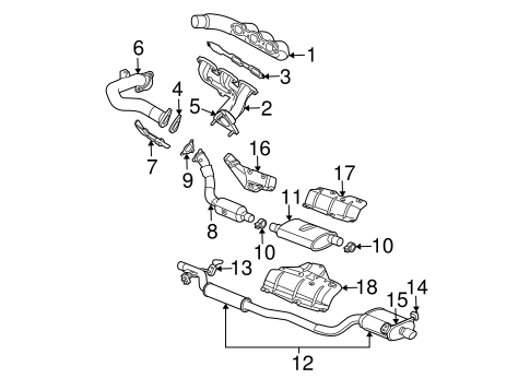 2005 chrysler pacifica exhaust system diagram