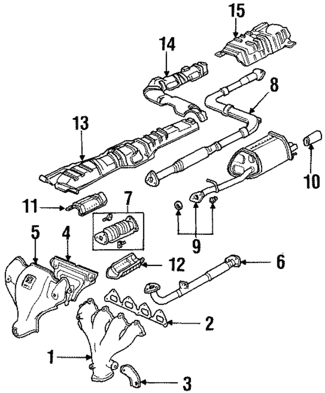 1992 1996 Honda Prelude Coupe Muffler Set Ex 18030 Ss0 505