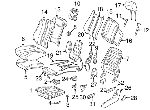 Front Seat Components for 1998 Mercedes-Benz E 430 #0