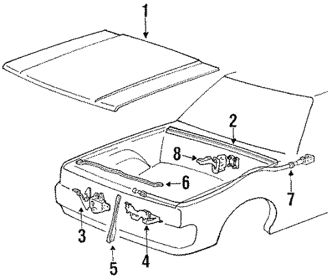 Hood Components For 1994 Mitsubishi Mighty Max