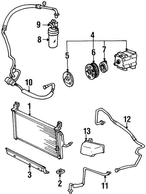 switches sensors for 1997 ford escort schultz ford lincoln parts Water Hose Diagram switches sensors for 1997 ford escort