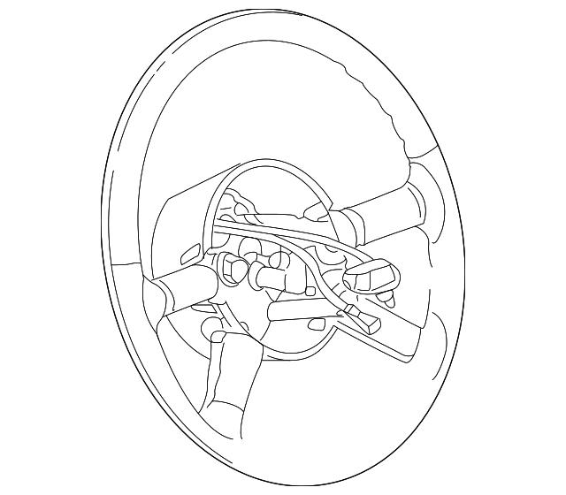 2007 chrysler pt cruiser steering wheel 1ew90xdhac