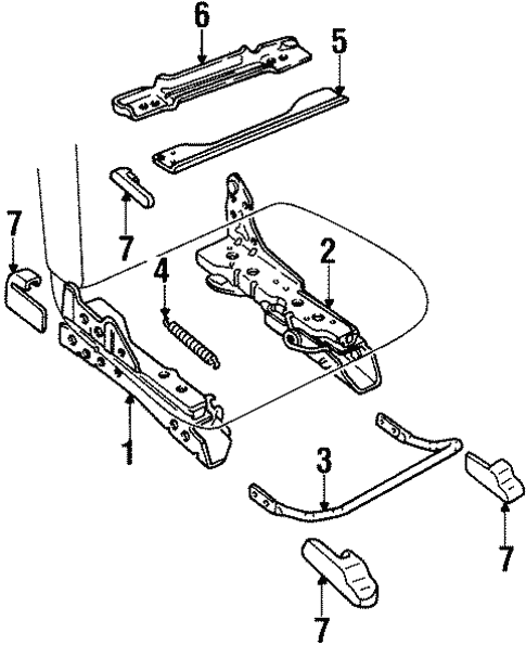 Tracks Components For 1996 Mercury Grand Marquis