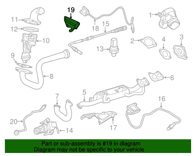 Rear nox sensor bracket mercedes benz 166 540 29 40 for Mercedes benz parts online shop