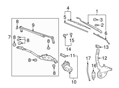 2009 gmc acadia wiper with Gm Wiper Blade 15941735 on 1968 Gmc Truck Wiring Diagrams besides Instrument panel pass key fuse furthermore Gm Wiper Arm 15948719 besides Gm Wiper Blade 15941735 further 2007 Kia Sorento Wiper Relay Location.