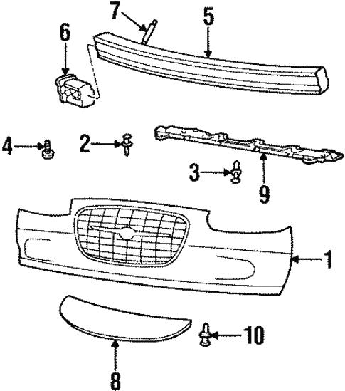 Bumper & Components - Front For 1999 Chrysler LHS