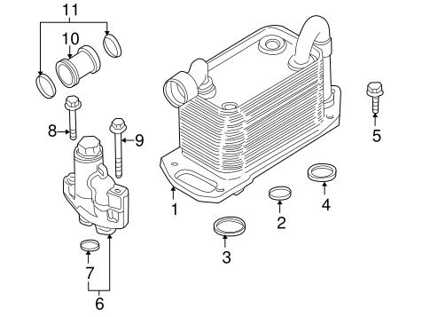 Engine Oil Cooler For 2003 Bmw M5 Bmw Parts Link